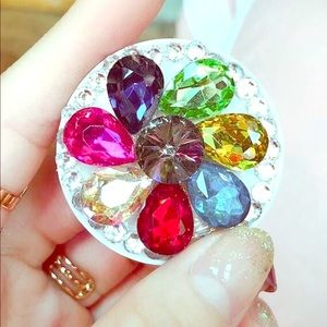 Other - 3D Crystal Jewel Phone Grip